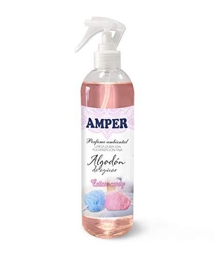 AMPER COTTON CANDY 500 ml - Ambientador Pulverización Fina. Larga duración. Aroma Fresco y suave