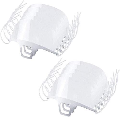 Catering Mask 10 Piezas Mascarilla de plástico Transparente antiniebla para Spray antiniebla Saliva Chef Spit Food Hotel Kitchen Restaurant Supply