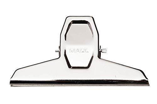 Papier-Klemmer MAULpro, verwindungssteif, Stahl, 125 mm Breite, 30 mm Klemmweite, hellsilber, 2 Stück