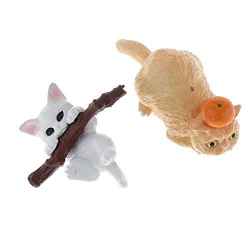 lahomia Sweet Home Cats Muñecas Figuras de Animales Colección Juguete 1/12 Adornos de Casa de Muñecas