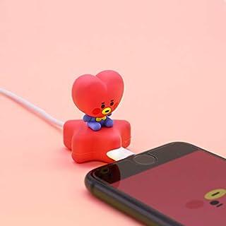 BT21 公式 ケーブルマスコット Cable Mascot スマートフォン スマホ ケーブル ライトニングケーブル Lightningケーブル アクセサリ マスコット 断線予防 (TATA)