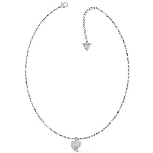 Supongo Collar de Las Mujeres del Acero Inoxidable Colgante de Corazn Y Punto de Luz UBN79012