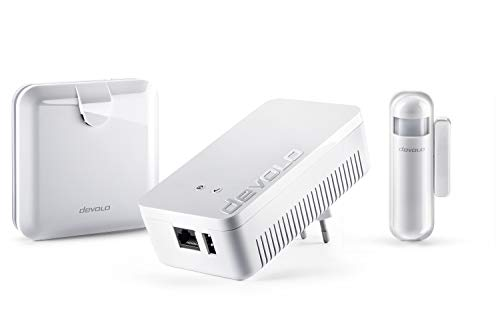 devolo Home Control Alarmsirenen-Paket (Smarthome Einsteigerpaket, Z-Wave, Haussteuerung per iOS/Android App, einfache Installation, enthält: Zentrale, Alarmsirene und Tür-/Fensterkontakt) weiß