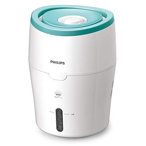 Philips HU4801/01 Umidificatore d'Aria, Tecnologia NanoCloud, Evaporazione Naturale, 2 L, 200 ml/h, Verde/Bianco
