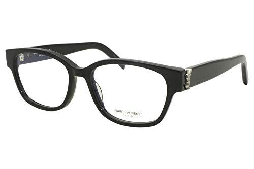 Saint Laurent Montatura SL M35 Black Silver 52/16/140 donna