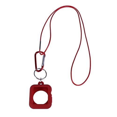 Hemobllo 38MM Ciondolo in Silicone per Orologio Ciondolo astuto Collana per Orologio Ciondolo per Apple Watch Series 3/2/1 (Rosso)