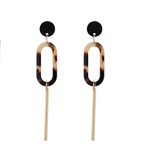 Idolyu meistverkaufte neue Modetrend elliptische Essigsäure Wort lange Damen Ohrringe wild romantischen Strand weiblichen Kaffee
