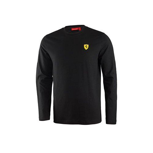 Ferrari t-Shirt à Manches Longues pour Homme S Noir - Noir