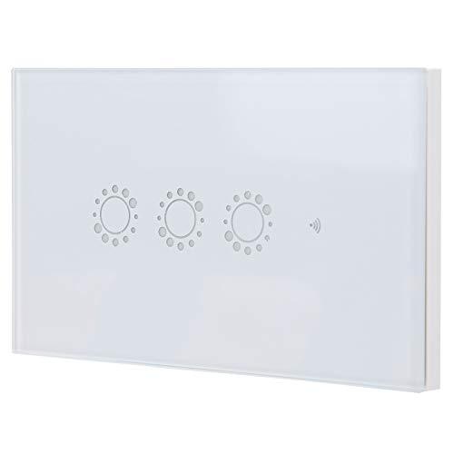 Interruptor táctil inalámbrico, Wifi inteligente Interruptor inteligente blanco 95‑240VAC para cocinas para dormitorios para oficinas para restaurantes