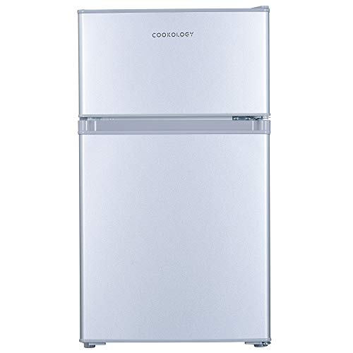 Cookology UCFF87 47cm Freestanding Undercounter 2 Door Fridge Freezer (Silver)