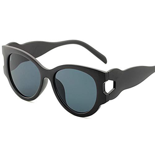 BAN SHUI JU MINSU GUANLI Bloc Sonnenbrillen Damen Mehrfarbige Nähte Elegante Damen Pilotenbrille Getönt (Color : Black Frame Gray Piece)