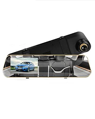 Full HD 1080P Car Dvr Camera Auto 4.3 Pulgadas Espejo retrovisor Grabador de Video Digital Lente Dual(Color:a,Size:None)