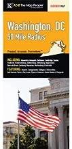 Washington, DC 50-mile Radius Fold Map
