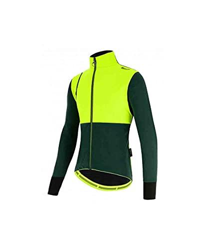 Santini Giubbino Ciclismo Invernale Vega Absolute (L, VERDE)