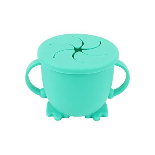 YOPU Snack Bowl Silicona Snack Cup Anti-caídas y a prueba de fugas Caja de aperitivos con mango Taza de almacenamiento de alta resistencia a la temperatura Galletas Candy Fruit Container Box