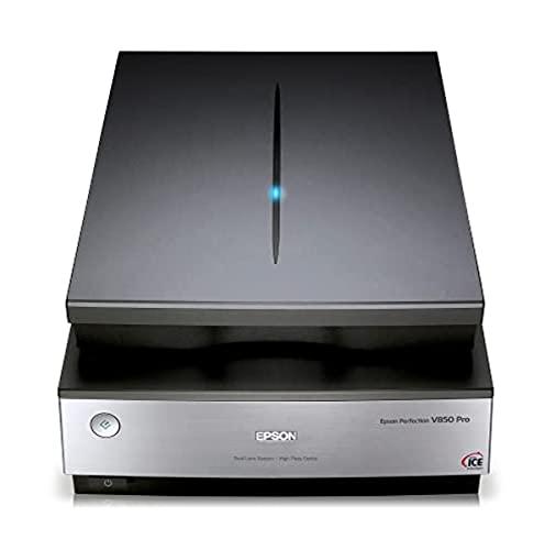 EPSON B11B224401 Perfection V850 Pro Scanner (Vorlagen, Dias und Filmnegative scannen) schwarz/silber
