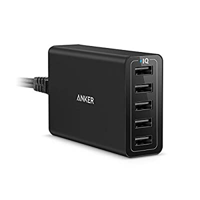Anker USB Charger PowerPort 5 (40W 5-Port USB Charging Hub) Multi-Port Wall Charger for iPhone 6s / 6 / 6 Plus / 5 / 5s, iPad Air 2 / mini 3, Galaxy S6 / S6 Edge and More