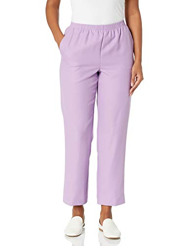 Alfred Dunner Women's Petite Classic FIT Medium Length Pant, Wisteria, 16P