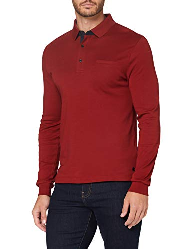 Pierre Cardin Herren Longsleeve Interlock Uni Polo-Pullover, red, 3XL