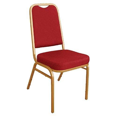 BOLERO Bankettstühle mit rechteckiger Lehne rot, Sie erhalten 1 Packung, Packungsinhalt: 4 Stück
