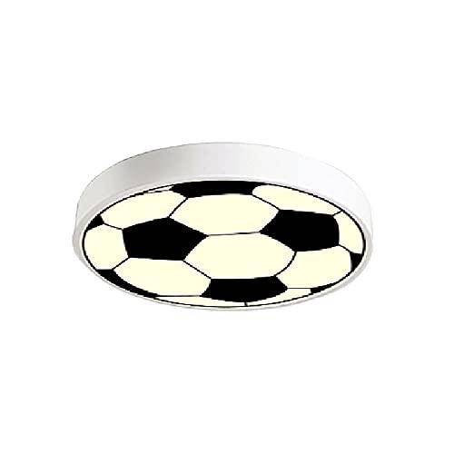 DENGJIN Patrón de fútbol de dibujos animados Iluminación de luz de techo Dormitorio de niños Montaje empotrado Lámpara de techo Lámpara de decoración linda para habitación de niños, Dormitorio de niño