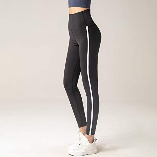 Walmeck Pantalones de Yoga para Mujer Pantalones Deportivos de Cintura Alta a Rayas Vintage Medias Entrenamiento físico Correr Ciclismo Pantalones Ajustados para Gimnasio Calles caseras