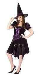 Witch Purple Punk Adlt Plus Halloween or Theatre Costume