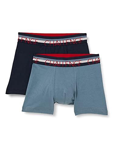 Sanetta Jungen Doppelpack Hipshort blau Unterwäsche, Blue Mirage, 152 (2er Pack)