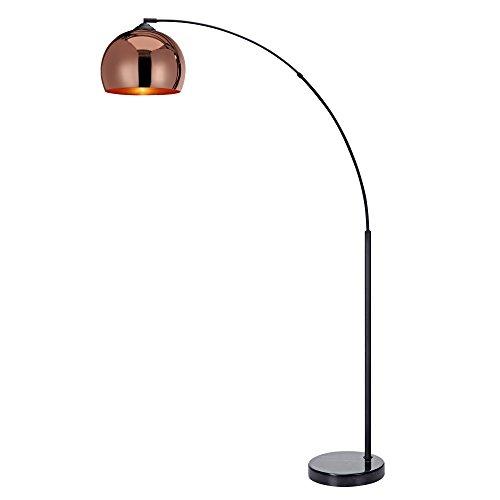 Versanora - Arquer 170cm Modern Arc Floor Lamp Reading Light for Living Room Bedroom. Marble Base. Polished Rose Gold Finish
