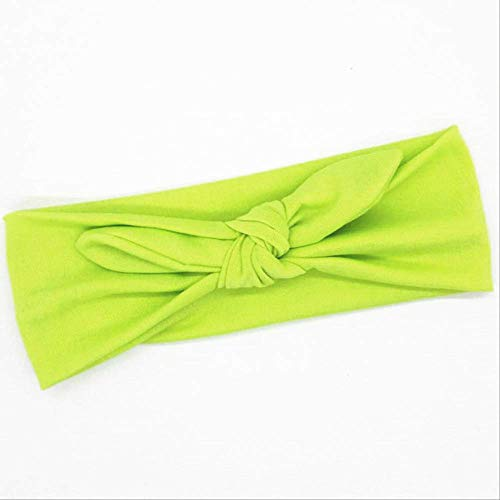 WLLBT lapin oreilles bandeau Yoga bandeau fille noeud bandeau Bowknot coiffure bandage cheveux accessoires taille unique 22 vert vif