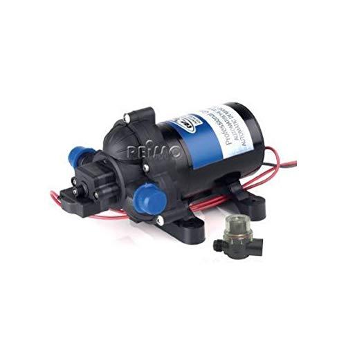 Wasserpumpe 12V, 10 Liter/min, 2,8 bar, inkl. Schlauchadapter und Filter, Bedienungsanleitung (932962056)