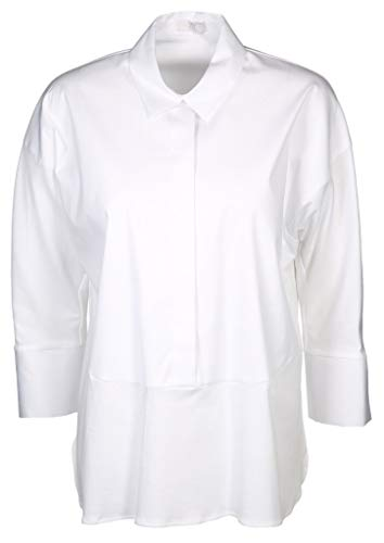 Riani Bluse mit Materialmix Weiss (100 White) 44
