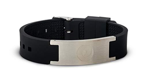 EMF Protection Bracelet Mobility+ Harmonizer - Versatile Anti EMF Radiation Wearable Wristband – Proven European Technology from EMF Harmony (Black)
