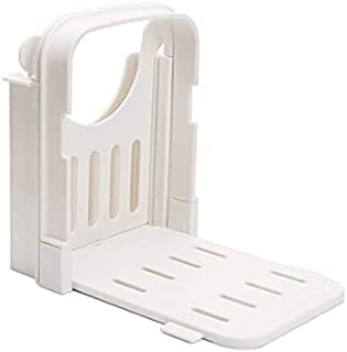 Coupe-pain Toast Slicer Bagel Loaf Slicer Sandwich Maker Toast Slicer Machine Épaisseurs réglables Trancheuse - Blanc 6.9x...