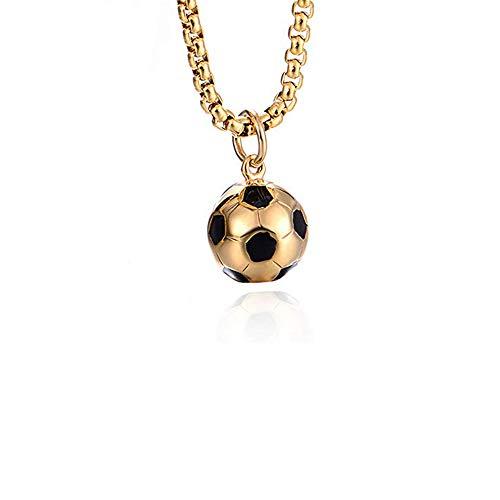 Polyeder - Collana con ciondolo a forma di pallone da calcio, per ragazzi e ragazze, in acciaio inossidabile, adatta per pelli sensibili e acciaio inossidabile, cod. LE00888023