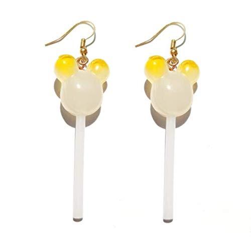 Ohrringe für weibliche Harz Harz Lollipop Augentropfen Kinder Schmuck Benutzerdefinierte Handtätigkeit Mädchen Baumwolle Bonbons Geschenk TINGG (Color : 39)