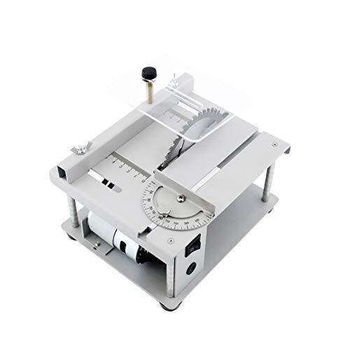 KKmoon Sega Circolare da Banco 150 W Mini Sega da Tavolo Tagliatrice Elettrica con Lama per Se-ga Regolazione dell'angolo della Velocità Regolabile Profondità di Taglio di 40 mm