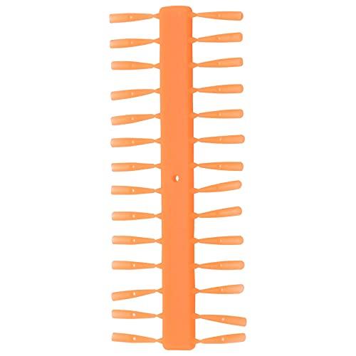 HLPIGF 10 Tarjetas/Bolsa Carpa Cebo de Pesca Parada RáPida -UP Boilie Pellet Stopper para Carp Hair Rig Stoper Carpa MéTodo de Pesca Accesorios del Alimentador, Naranja PequeeO