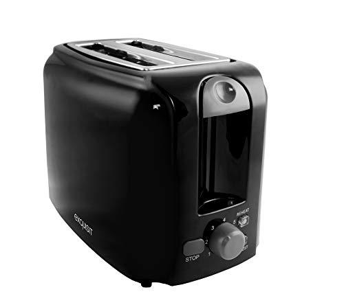 Exquisit Toaster  TA 3101 sw | 2-Scheiben Toaster | 760 Watt I Brötchenaufsatz | Krümelschublade | Kabelaufwicklung | schwarz