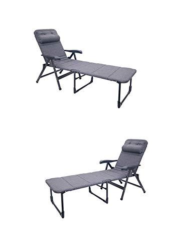 STABIELO NIEUW - vanaf 15.2.20 - DE armleuningen ligstoel GRIJS - Crespo - verkoop Holly producten meerprijs met Holly waaierschermen -