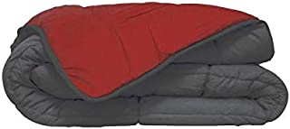 Couette bicolore Polyester Gris/Rouge 140 x 200 cm - POYET MOTTE - Gamme CALGARY