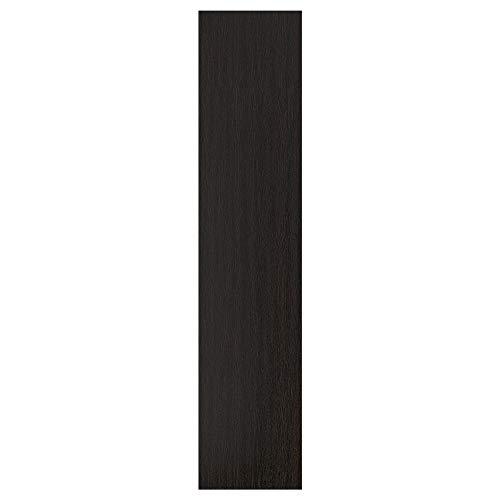 Puerta FORSAND 50 x 229 cm efecto ceniza manchada negro-marrón