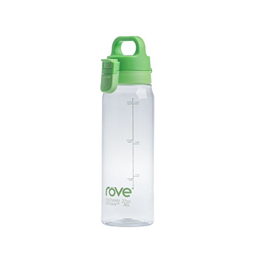 Rove 27oz Single Wall Tritan Water Bottle - Lift-Up (Green)