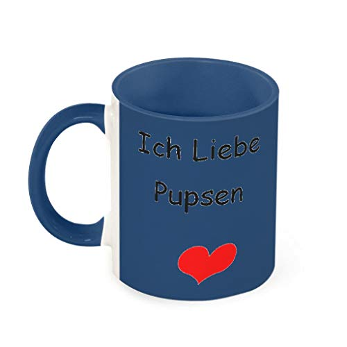 O2ECH-8 11 OZ Ich Liebe pupsen Becher Porzellan Unique Becher Tasse - Lustige Hochzeits-Geschenke (Beidseitig Bedrucken) Midnight Blue 330ml