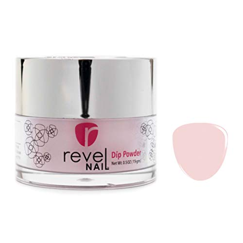 Revel Nail Dip Powder | Non-Toxic, Odor-Free | Crack & Chip Resistant | Vegan, Cruelty-Free | Can Last Up to 8 Weeks | 0.5oz Jar | Sheer Color (Erica, 0.5oz)