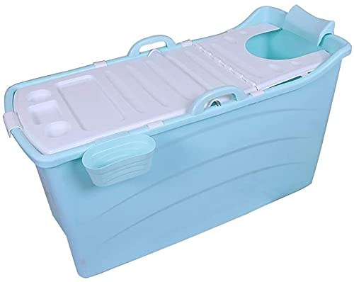 Bañera portátil para adultos para puesta de ducha, bañera plegable bañera para bebés para niños Barril Barril Barril Freestanding Piscina de plástico Azul/Rosa 120 * 54 * 67cm