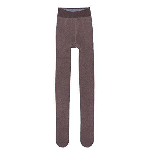 FENICAL Invierno Mujer Terciopelo Elástico Leggings Pantalones Medias Gruesas Pantimedias (Café Claro)