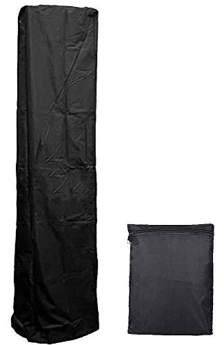 UCARE Abdeckung für Terrassenheizung, strapazierfähig, wasserdicht, Veranda-Abdeckungen für Pyramiden-Terrassen-Standheizungen, dreieckig, Gasheizung, schwarz, 214 x 53 x 61 cm