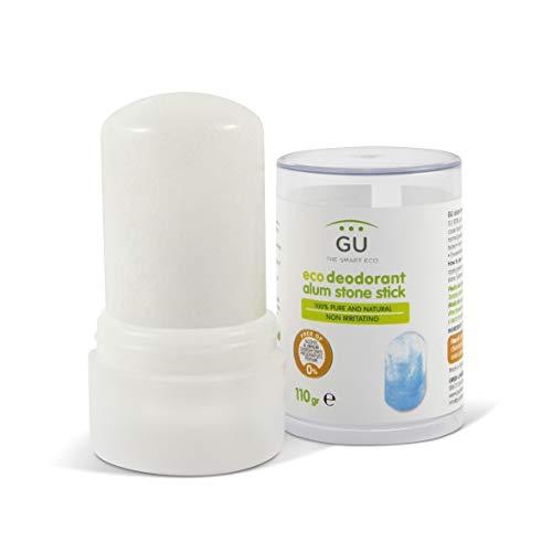 Desodorante de piedra de alumbre 100% 110 gr- Desodorante natural Sin Parabenos, Alcohol o Conservantes - Elimina Bacterias sin Cerrar los Poros - Cosmética natural - GU Planet