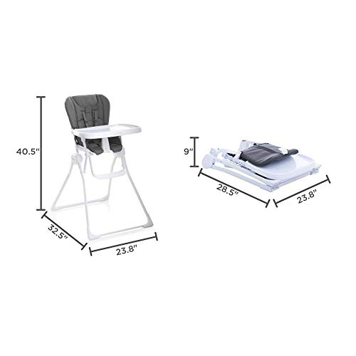 Joovy Nook High Chair, Compact Fold, Swing Open Tray, Charcoal